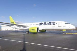 Air Baltic opera sus vuelos a Madrid y Málaga con los Bombardier CS300.