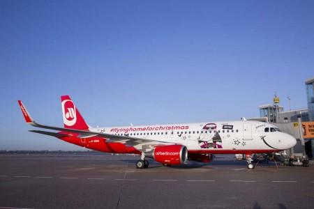 El Airbus A320 de Air Berlin visitará Madrid los días 27 y 28 de noviembre.