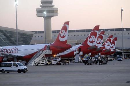 Aviones de Air Berlin en el aeropuerto de Palma de Mallorca antes del cierre de la operación hub en el mismo.