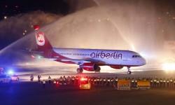 Llegada al aeropuerto de Berlin Tegel del último vuelo de Air Berlin.