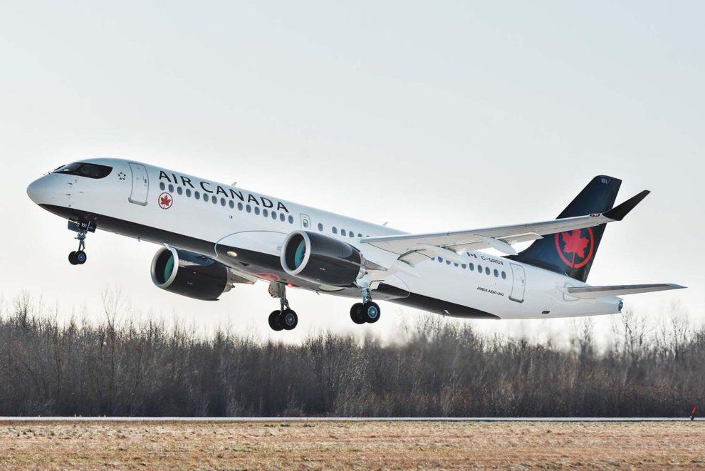 Primer despegue de un Airbus A220 destinado a Air Canada