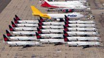 Boeing 737 MAX de Air Canada aparcados, La aerolínea ha cancelado os 11 pedidos que restaban por entregarse.