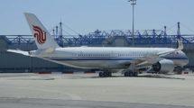 El primer Airbus A350-900 de Air China poco antes de su entrega en las instalaciones de Airbus en Toulouse.