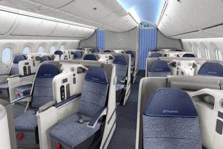 Asientos de clase business de los Boeing 787 de Air Europa.