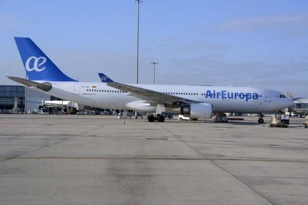 El Airbus A330-200 EC-JQG ha sido el avión usado en el vuelo innagural de Air Europa entre Madrid y Guayaquil.