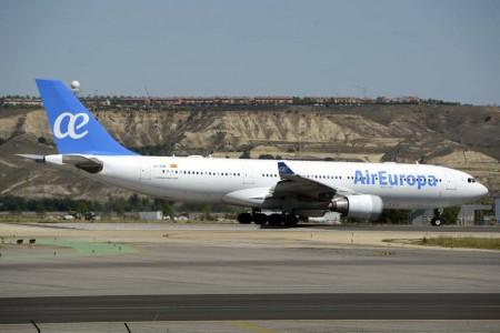 Air Europa vuela tres veces por semana entre Madrid y Caracas con sus Airbus A330.