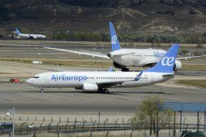 Aviones de Air Europa en el aeropuerto de Madrid Barajas.