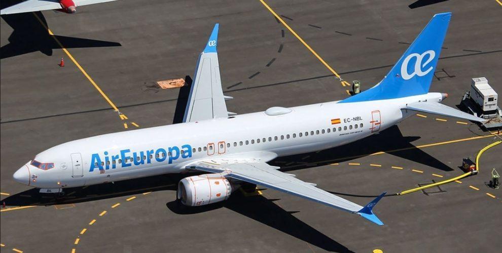 Boeing 737 MAX de Air Europa almacenado a la espera de su entrega,