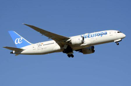Air Europa emplea sus aviones Boeing 787 a destinos europeos de mayor demanda.