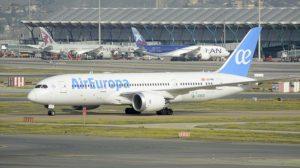 Boeing 787-8 de Air Europa usado en la ruta entre Madrid y Medellín.