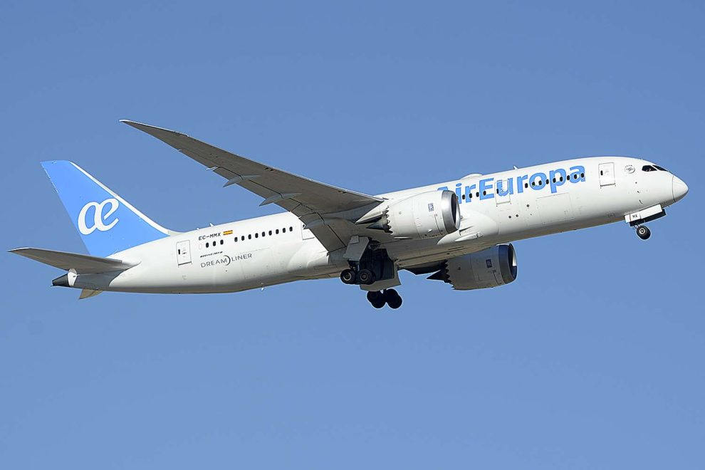 Air Europa cuenta ya con ocho Boeing 787-8 como este y dos Boeing 787-9.