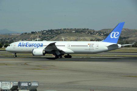 El Boeing 787-9 EC-NCY de Air Europa fue uno de los últimos aviones entregados por Boeing en el tercer trimestre de 2019.