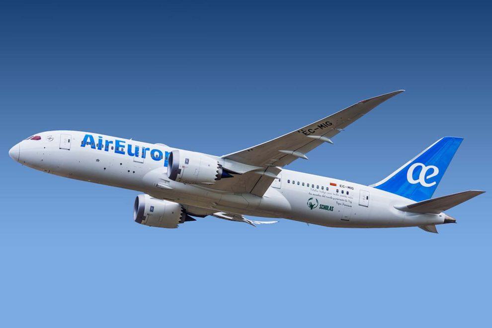 Air Europa ha programado los Boeing 787-8 (en la foto) a Nueva York y los B-787-9 a Miami.