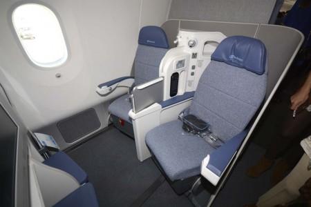 Asientos de clase business del Boeing 787 de Air Europa.