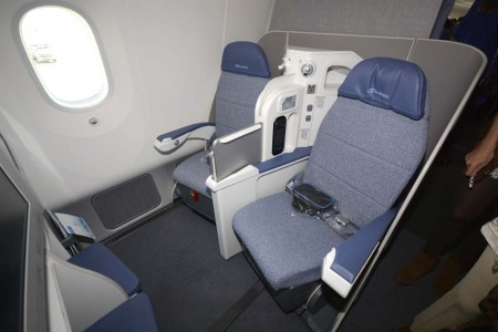 Asientos de clase business del Boeing 787 de Air Europa.