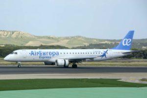 Air Europa Express cuenta actualmente con 16 aviones: cinco ATR-72 500 y 11 Embraer 195-