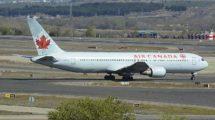 Boeing 767-300 de Air Canada en el aeropuerto de Madrid Barajas.