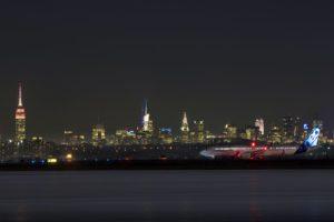 El Airbus A321LR rodando en el aeropuerto JFK de Nueva York a su llegada de París-