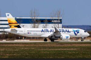 El primer Airbus A330 de Air Austral poco antes de su entrega.