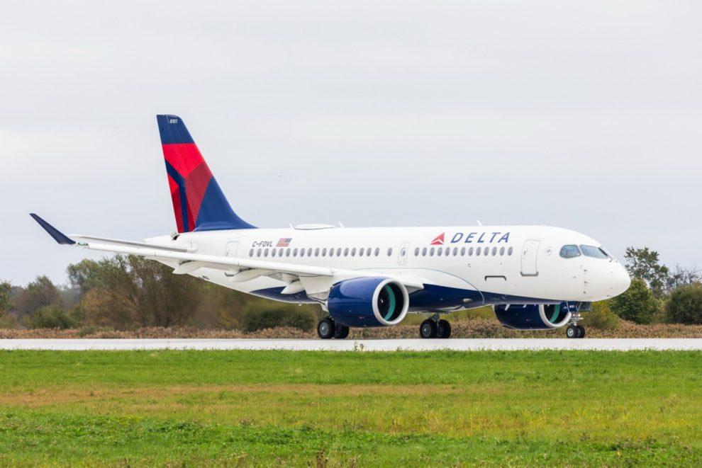 El primer Airbus A220 de Delta partió hacia Atlanta poco después de la ceremonia de entrega en Quebec.