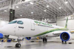 El primer Airbus A220 de Iraqi Airways.