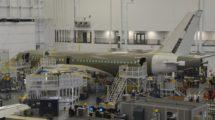 Cadena de montaje del Airbus A220 en MIrabel-
