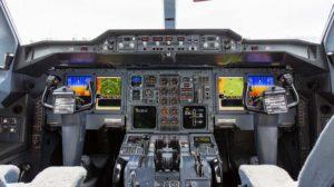 Cockpit modernizado del primer A300-600GF de UPS.