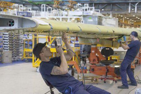 Producción del ala del Aoirbus A320 en Broughton.