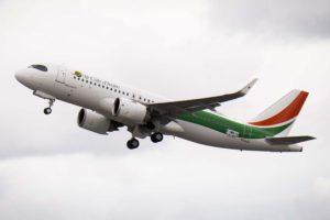 Entre las entregas en febrero de Airbus estuvo este A320neo a Air Côte d'Ivoire.