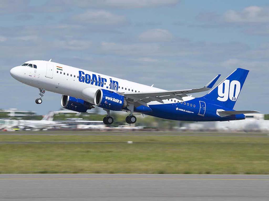 A320neo de Go Air durante uno de sus vuelos de prueba previos a su entrega.