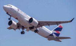 Airbus A320neo de LATAM.
