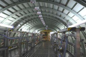 Producción de fuselajes de Airbus A321 en Finkenwerder.