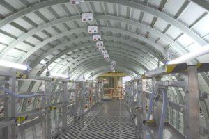 Producción del fuselaje del Airbus A321 en Finkenwerder.