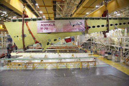 Producción de la primera ala derecha en Broughton para un Airbus A321XLR.