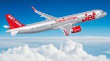 Ilustración del aspecto que tendrán los Airbus A321neo de Jet2.