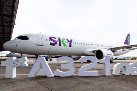 Primer Airbus A321neo de Sky Airline.