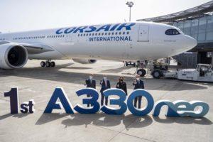 Entre las entregas de Airbus en el mes de marzo estuvo el primer A330-900 para la francesa Corsair.
