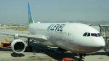 Airbus A330 de Level en el aeropuerto de Barcelona El Prat.