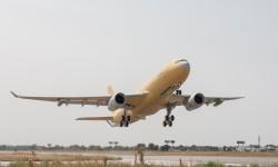 Despegue de Getafe del primer A330MRTT para Francia en su primer vuelo una vez completada su modifcación.