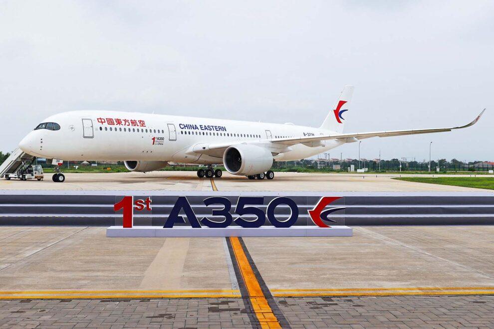 Primer A350 entregado en el Centro de Finalización y Entrega en Tianjin.