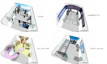 Algunas de las propuestas en estudio para la cubierta de bodegas de los A350.