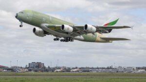 El último A380 que será entregado a Emirates hizo su primer vuelo el pasado 17 de marzo.
