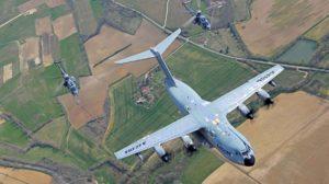 Nuevas pruebas para la certificación del Airbus A400M para el repostaje en vuelo de helicópteros.