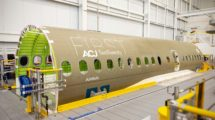 Fuselaje central del primer Airbus ACJ Two Twenty.