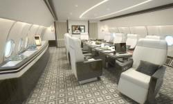 El ACJ330 Summit  combina un avión VIP con la capacidad de transportar a una serie de acompañantes.