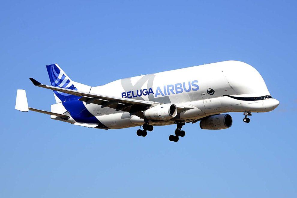El Airbus Beluga XL aterrizando en Getafe.