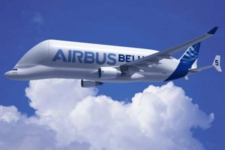 Dibujo del diseño original del Beluga XL publicado por Airbus cuando lanzó el programa.