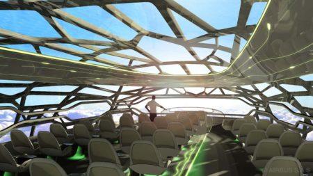 El Concept Plane de Airbus incluye una estructura inspirada en la de los huesos.
