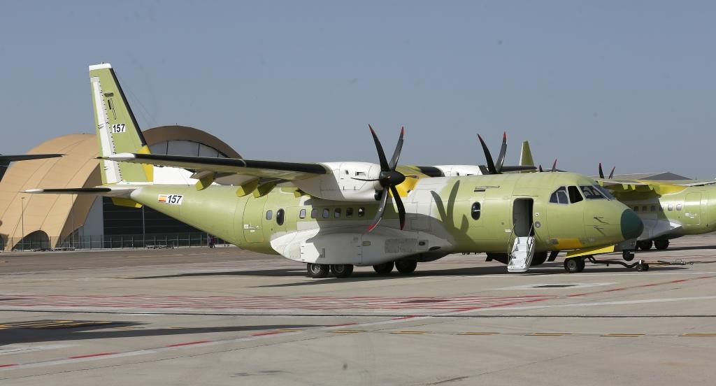 El primer C295 SAR en Sevilla listo para su primer vuelo.