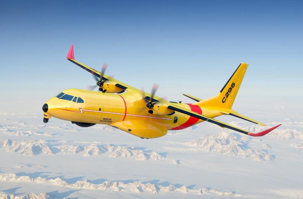 Ilustración con el aspecto que tendrán los C295W del SAR canadiense.